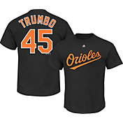 Majestic Men's Baltimore Orioles Mark Trumbo #45 Black T-Shirt