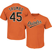 Majestic Men's Baltimore Orioles Mark Trumbo #45 Orange T-Shirt