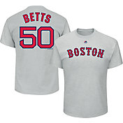 Majestic Men's Boston Red Sox Mookie Betts #50 Grey T-Shirt