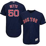 Majestic Men's Authentic Boston Red Sox Mookie Betts #50 Flex Base Alternate Navy On-Field Jersey