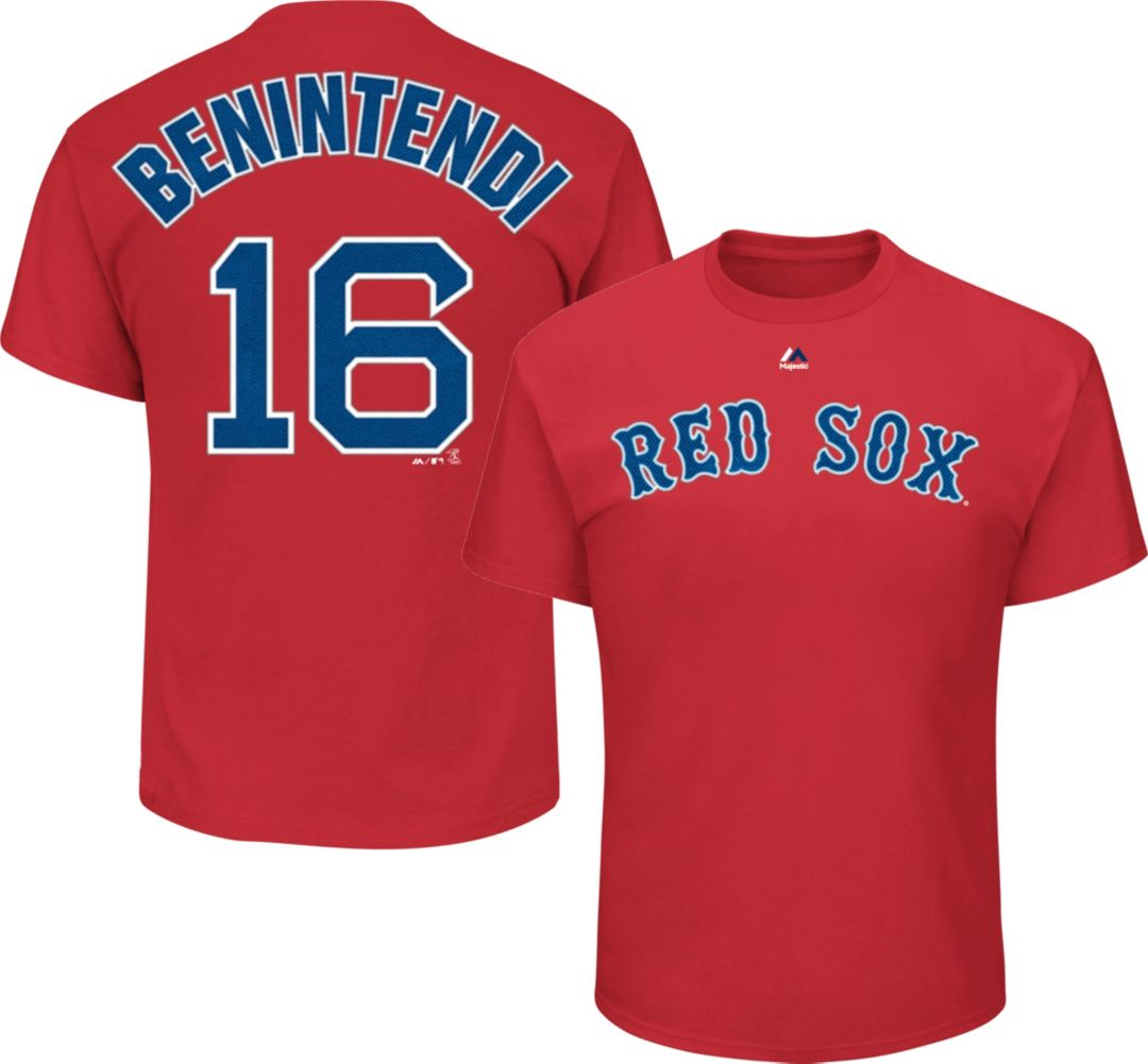 sports shoes 4e563 5b2f7 Majestic Men's Boston Red Sox Andrew Benintendi #16 Red T-Shirt