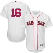 Majestic Men's Authentic Boston Red Sox Andrew Benintendi #16 Flex Base Home White On-Field Jersey