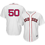 Majestic Men's Replica Boston Red Sox Mookie Betts #50 Cool Base Home White Jersey