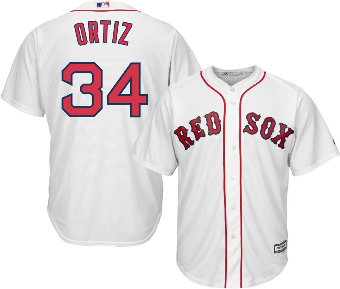 sports shoes cb18a 25065 Majestic Men's Replica Boston Red Sox David Ortiz #34 Cool Base Home White  Jersey