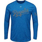 Majestic Men's Kansas City Royals Royal Long Sleeve Shirt