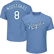 Majestic Men's Kansas City Royals Mike Moustakas #8 Light Blue T-Shirt