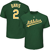 Majestic Men's Oakland Athletics Khris Davis #2 Green T-Shirt