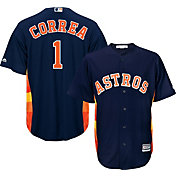 Majestic Men's Replica Houston Astros Carlos Correa #1 Cool Base Alternate Navy Jersey