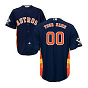 Majestic Men's Custom 2017 World Series Champions Replica Houston Astros Cool Base Alternate Navy Jersey