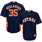 Majestic Men's Replica Houston Astros Justin Verlander #35 Cool Base Alternate Navy Jersey