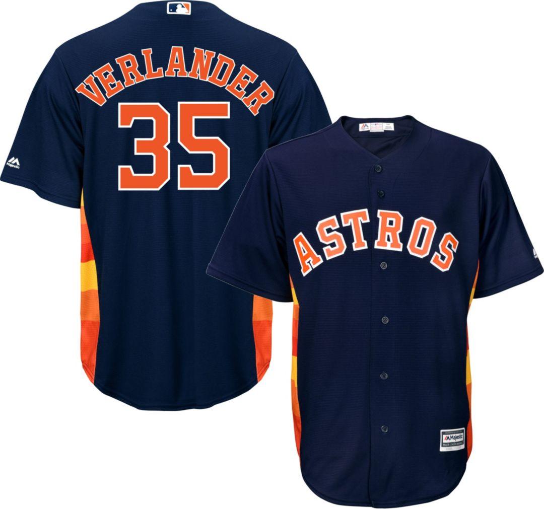 wholesale dealer 177b1 fe63c Majestic Men's Replica Houston Astros Justin Verlander #35 Cool Base  Alternate Navy Jersey