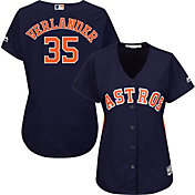 Majestic Women's Replica Houston Astros Justin Verlander #35 Cool Base Alternate Navy Jersey