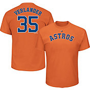 Majestic Men's Houston Astros Justin Verlander #35 Orange T-Shirt