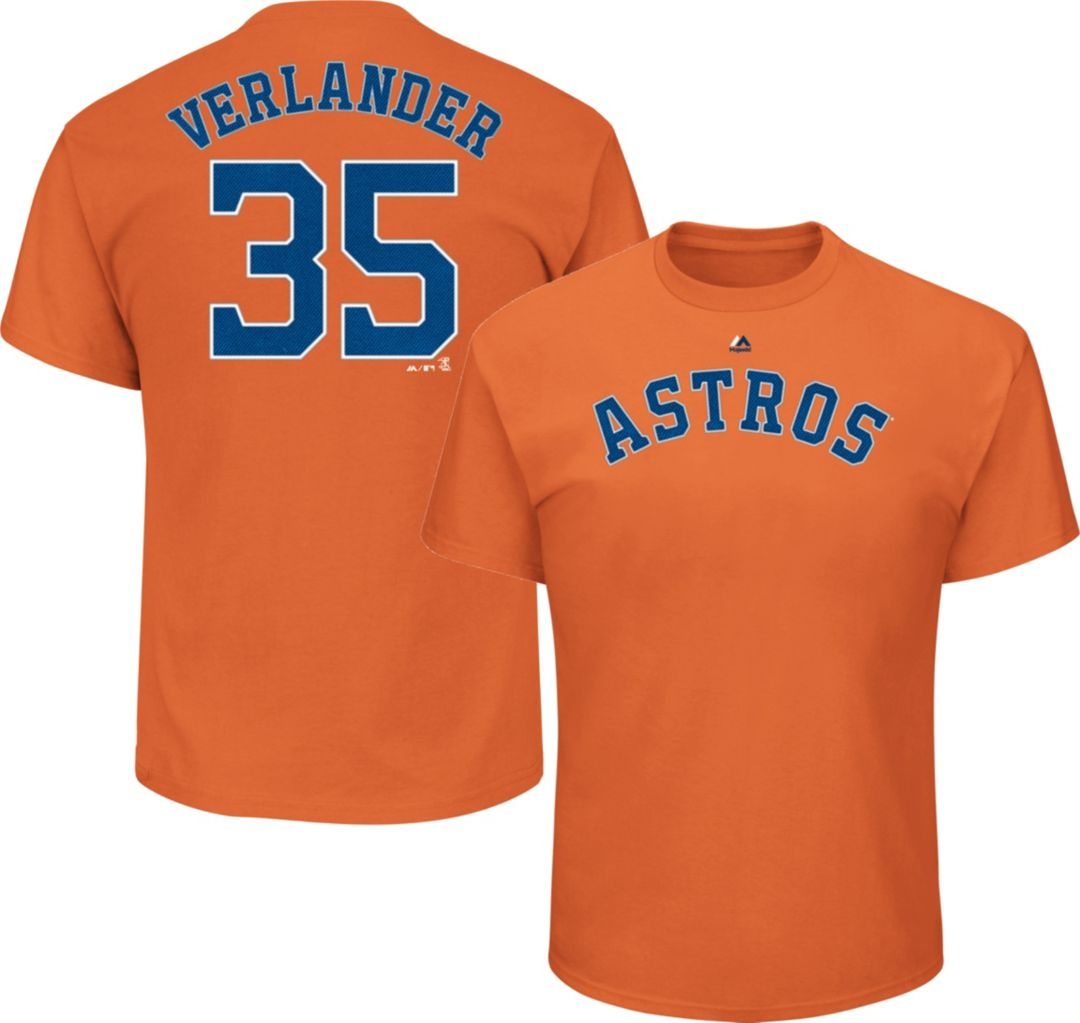 new product 03019 1c6f7 Majestic Men's Houston Astros Justin Verlander #35 Orange T-Shirt