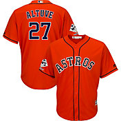 Majestic Men's 2017 World Series Champions Replica Houston Astros Jose Altuve Cool Base Alternate Orange Jersey