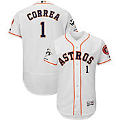Majestic Men's 2017 World Series Champions Authentic Houston Astros Carlos Correa Flex Base Home White On-Field Jersey