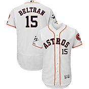 Majestic Men's 2017 World Series Champions Authentic Houston Astros Carlos Beltran Flex Base Home White On-Field Jersey