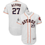 Majestic Men's 2017 World Series Champions Authentic Houston Astros Jose Altuve Flex Base Home White On-Field Jersey