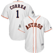 Majestic Men's 2017 World Series Champions Replica Houston Astros Carlos Correa Cool Base Home White Jersey