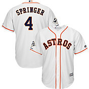Majestic Men's 2017 World Series Champions Replica Houston Astros George Springer Cool Base Home White Jersey