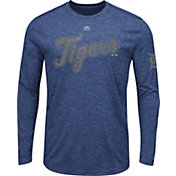Majestic Men's Detroit Tigers Navy Long Sleeve Shirt