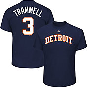 Majestic Men's Detroit Tigers Alan Trammell #3 Navy T-Shirt