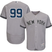 Majestic Men's Authentic New York Yankees Aaron Judge #99 Flex Base Road Grey On-Field Jersey