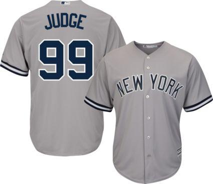 Majestic Men s Replica New York Yankees Aaron Judge  99 Cool Base ... d1e28ed041e