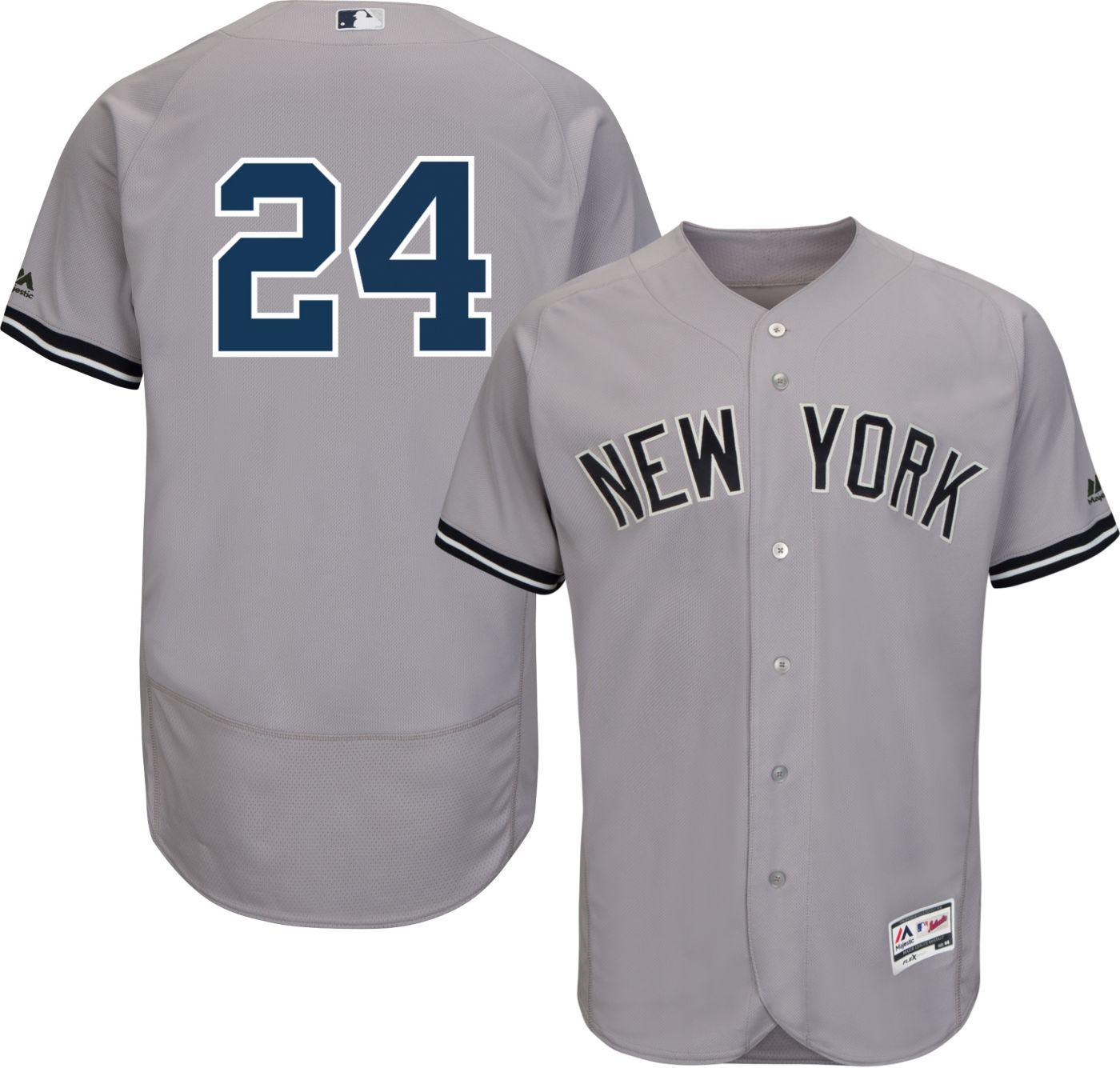 Majestic Men's Authentic New York Yankees Gary Sanchez #24 Flex Base Road Grey On-Field Jersey