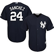 Majestic Men's Replica New York Yankees Gary Sanchez #24 Cool Base Alternate Navy Jersey