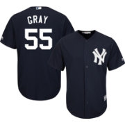 Majestic Men's Replica New York Yankees Sonny Gray #55 Cool Base Alternate Home Navy Jersey
