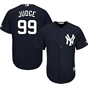 Majestic Men's Replica New York Yankees Aaron Judge #99 Cool Base Alternate Navy Jersey
