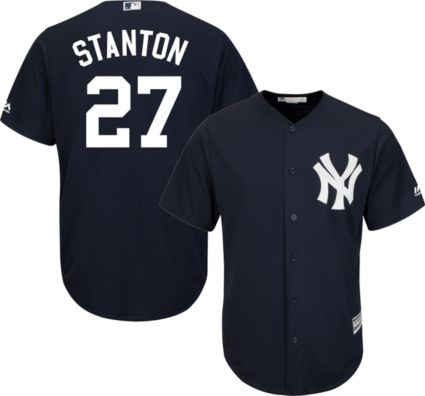 ed3eadc14b8 ... York Yankees Giancarlo Stanton  27 Cool Base Alternate Navy Jersey.  noImageFound