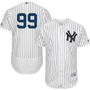 Majestic Men's Authentic New York Yankees Aaron Judge #99 Flex Base Home White On-Field Jersey