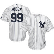 Majestic Men s Replica New York Yankees Aaron Judge  99 Cool Base Home  White Jersey 64095a192fa