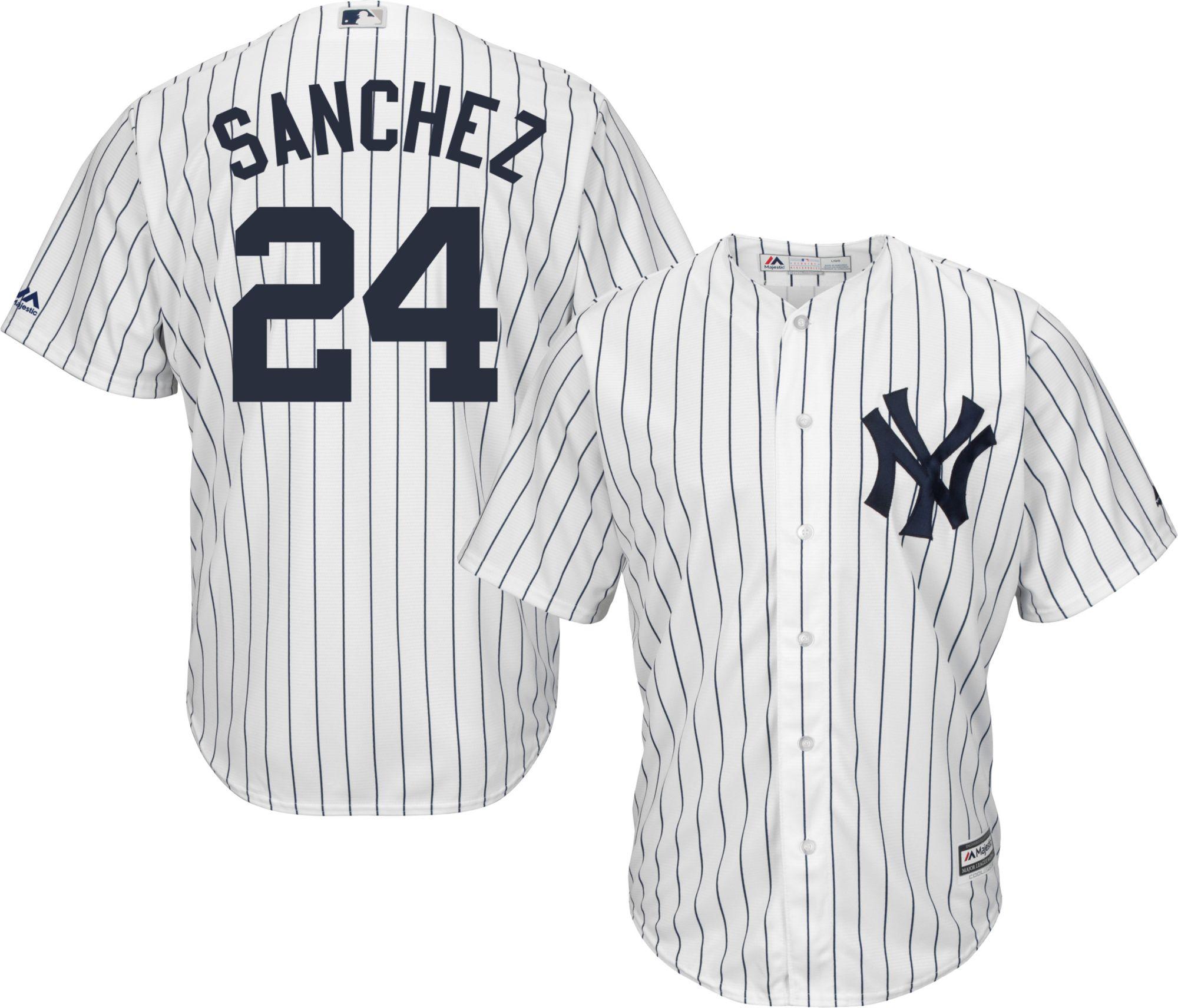 0d0e68572 greece majestic mens replica new york yankees gary sanchez 24 cool base  home white jersey 0dc64