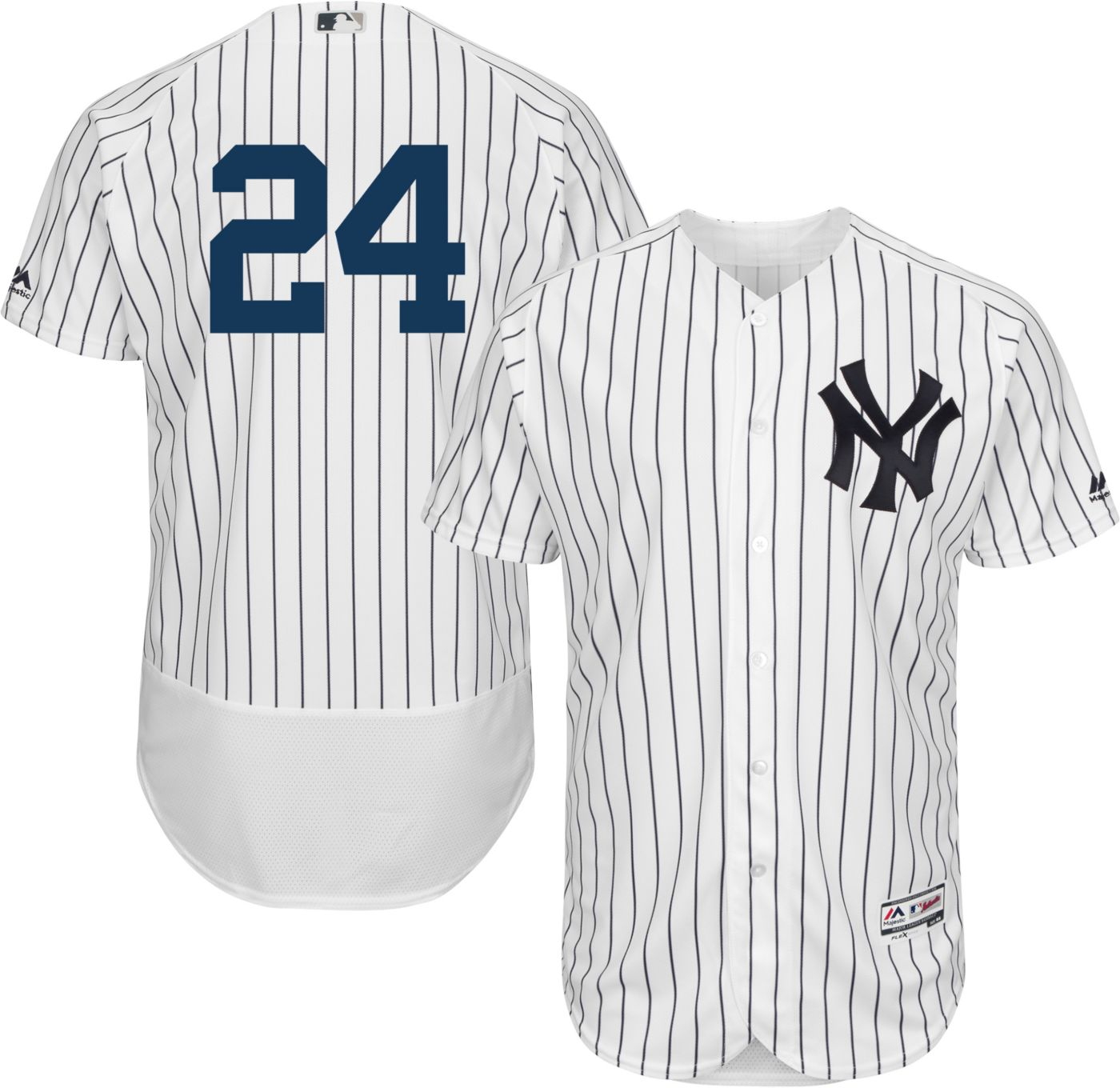 Majestic Men's Authentic New York Yankees Gary Sanchez #24 Flex Base Home White On-Field Jersey