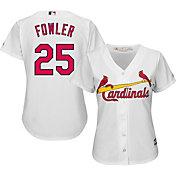 Majestic Women's Replica St. Louis Cardinals Dexter Fowler #25 Cool Base Home White Jersey