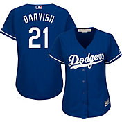 Majestic Women's Replica Los Angeles Dodgers Yu Darvish #21 Cool Base Alternate Royal Jersey