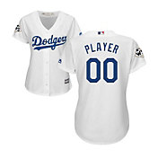 Majestic Women's Full Roster Replica 2017 World Series Los Angeles Dodgers Cool Base Home White Jersey