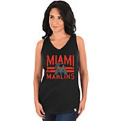 Majestic Women's Miami Marlins Four Seamer Black Tank