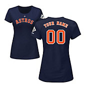 Majestic Women's Custom 2017 World Series Champions Houston Astros Navy T-Shirt