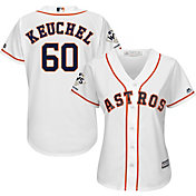 Majestic Women's 2017 World Series Champions Replica Houston Astros Dallas Keuchel Cool Base Home White Jersey