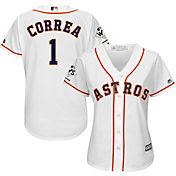 Majestic Women's 2017 World Series Champions Replica Houston Astros Carlos Correa Cool Base Home White Jersey