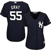 Majestic Women's Replica New York Yankees Sonny Gray #55 Cool Base Alternate Home Navy Jersey
