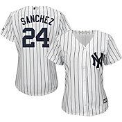 Majestic Women's Replica New York Yankees Gary Sanchez #24 Cool Base Home White Jersey