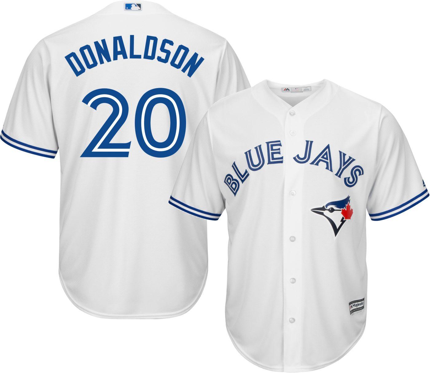 Majestic Youth Replica Toronto Blue Jays Josh Donaldson #20 Cool Base Home White Jersey