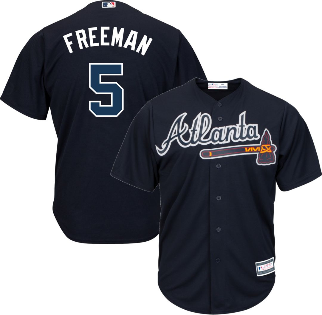 new products 9f8f1 37627 Youth Replica Atlanta Braves Freddie Freeman #5 Alternate Navy Jersey