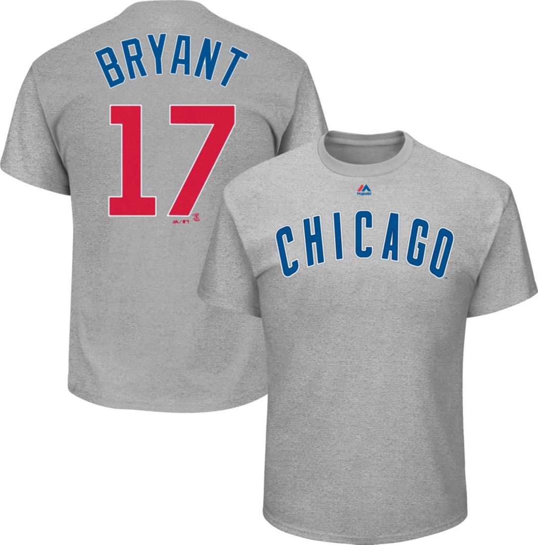 meet 803f5 cc5ed Majestic Youth Chicago Cubs Kris Bryant #18 Grey T-Shirt