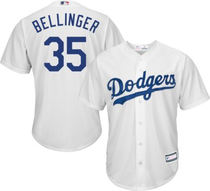 Youth Replica Los Angeles Dodgers Cody Bellinger  35 Home White ... 3ede477986c